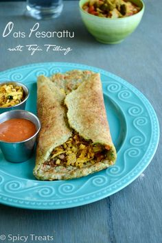 : Oats Pesarattu / Oats Pesarattu With Tofu Filling