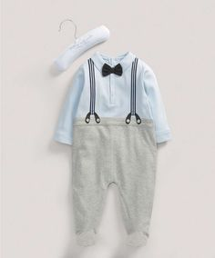 Boys Welcome to the World Mock Braces All-in-One - NEW Arrivals - Mamas & Papas