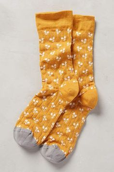 Paired Posy Socks - anthropologie.com