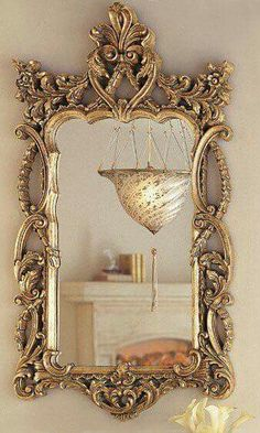 29 Best Antique Mirror Frame Design Ideas For Your Classic Home Ornate Mirror, Vintage Mirrors, Mirror Mirror, Mirror Ideas, Decoration Baroque, Spiegel Design, Beautiful Mirrors, Contemporary Interior, Contemporary Stairs