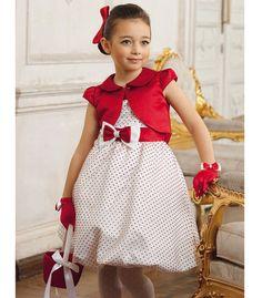 Детские платья для девочек красные в горошек
