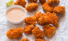 I think i've got you covered as far as irresistible fast food goes with this kfc style spicy popcorn chicken. so the thing is, i'm not a big kfc fan. Spicy Popcorn Chicken Recipe, Spicy Fried Chicken, Fried Chicken Recipes, Popcorn Recipes, Tandoori Chicken, Chicken Snacks, Chicken Recipes For Kids, Chicken Recipes Video, Homemade Popcorn