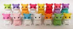 Kids' Pencil Erasers - 10 Pcs Hamsters Iwako Puzzle Eraser Vary Rare Limited Quantity ** You can get additional details at the image link.