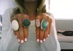 Love wearing as many rings as possible!