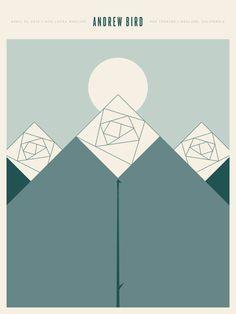 Andrew Bird. beautiful music. beautiful poster. 18x24