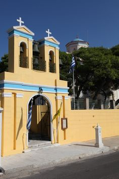 Agioi Anargiroi, Manna Syros Greek Islands, Taj Mahal, Mansions, House Styles, Building, Places, Travel, Vintage, Beautiful