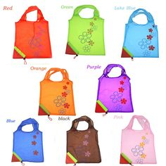 Outdoor Camping Travel Eco Friendly Picnic Strawberry Foldable Food Storage Handbag Shopping Tote Reusable Recycle Grocery Bag