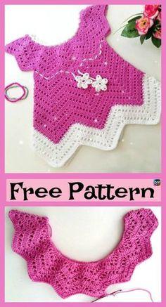 Pretty Crochet Baby Blossom Dress – Free Pattern #freecrochetpatterns #dress #girlsdress #babygift