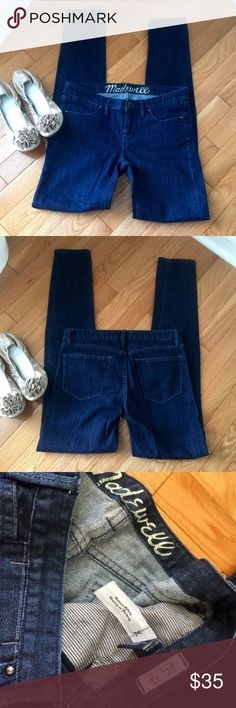 """Madewell Skinny Jeans Great preloved condition, no holes or stains. 25x32. Front rise 7.5"""". Madewell Jeans Skinny"""