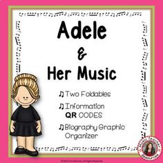 Get to know more about musician Adele with this Music Listening and Research Foldables. This is an excellent addition to your Listening lessons! Completed foldables can be pasted into student workbooks/listening journals OR displayed on a bulletin board. #mtr #musicteacher #musiced #musiceducation #musicteacherresources