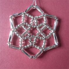 just a picture but easy enough to follow ... beaded snowflake
