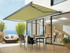 Minimalist and stylish. See how a Cordula awning has transformed this outdoor space - http://www.cordula.co.uk/