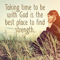 Lean into Jesus...