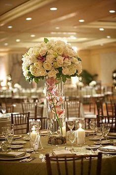 tall wedding table centerpiece