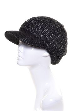 6c0bad9c6c6b8 Womens Metallic Beanie Visor Lined In Plush Chenille