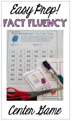 This game is so easy to prep! Print, cut the cards and laminate or put the game board in a sleeve! Use dry erase markers or colored counters and let your students have fun! This is a great way to practice math facts! Help your students with fact fluency! Multiplication Games, Fun Math Games, Fractions, Fourth Grade Math, Math Class, Math Education, Math Stations, Math Centers, Math Fact Fluency