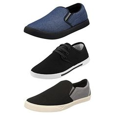 Chevit Men's Combo Pack of 3 Casual Shoes (Loafers& Sneakers Shoes) TR-96+109+166-7