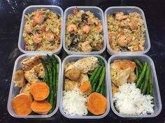 """College students you can do it too!! Way to push through your fatigue to stay on track! Shrimp Meal prep noms by @annachenfit """" EXHAUSTED today but I got through my meal prepping. Shrimp fried rice The staple Chicken & Asparagus. I loveeee rice if you can't tell """" OK YOUR TURN! Check out some of our favorite meal prep gear & containers to start meal prepping on site! (mealprepster.com) Follow & Tag us in your sexy meal preps for a chance to get featured! #mealpreplife #prepday #mealprepster…"""