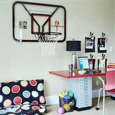 A Chic Boyu0027s Room For Two. Basketball BedroomBoy Sports BedroomBasketball  HoopRoom ...