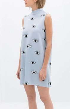 Zara eye print dress. There's something I love about this dress :)
