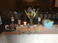 Create a beautiful guests programs table for a Celebration of Life Memorial www.eternallyloved.com