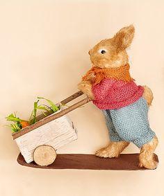 Loving this Brown Rabbit & Carrot Cart Figurine on #zulily! #zulilyfinds