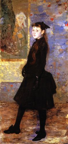 Camille van Mons Theo van Rysselberghe - 1885 Artist age:Approximately 23 years old. Dimensions:Height: 457.2 cm (180 in.), Width: 218.44 cm (86 in.) Medium: Painting - oil on canvas