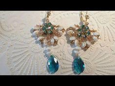 DIY Orecchini Nabila con piggy beads e swarovski - YouTube