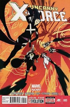 Drawing Marvel Comics Uncanny X-Force Comic Issue 5 Modern Age First Print 2013 Humphries Alphona Soy - Marvel Now, Captain Marvel, Marvel Comics, Character Drawing, Comic Character, Mark Bagley, X Force, Comic Book Pages, The Uncanny