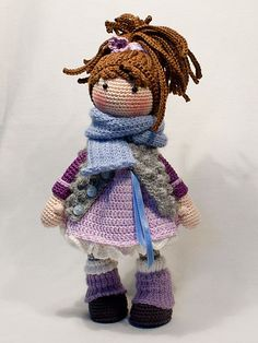 This listing is for an extensive PDF file which contains full instructions for crocheting and finishing off the doll MIA.