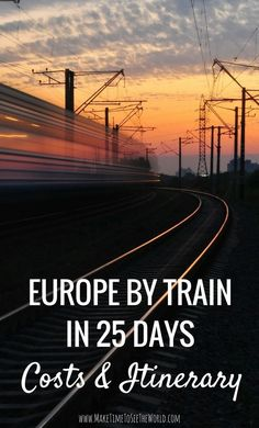 Europe By Rail in 25 days - Costs & Itinerary: Join me as I spend 3-4 weeks exploring 10-12 major European Cities by train including: Amsterdam, Berlin, Prague, Krakow, Budapest, Vienna, Venice, Florence, Pisa, Rome & Dubrovnik!  *************************