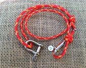 Nautical knotted dog collar. Sailing line, adjustable sliding knots.. $22.00, via Etsy.