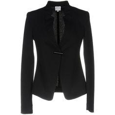 Armani Collezioni Blazer (28.045 RUB) ❤ liked on Polyvore featuring outerwear, jackets, blazers, dark blue, armani collezioni jacket, single breasted jacket, blazer jacket, short-sleeve blazers and armani collezioni