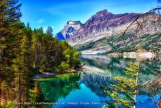 Glacier National Park, south side of lake St Mary