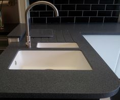 Laminate worktops are stain free and therefore even if you spill something over them they can be cleaned easily. Laminate Kitchen Worktops, Work Tops, Sink, Cleaning, Free, Home Decor, Image, Sink Tops, Vessel Sink