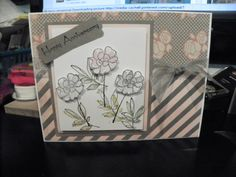 Stamp is from Stampin' Up - Botanical Blooms