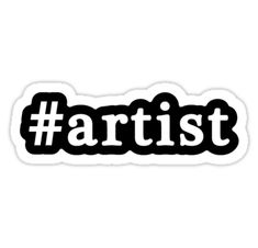 This design features a hashtag with stylized white lettering set against a black background. with a thin white outline. / See all of our hashtag designs:  A-B, C-E, F-H, I-O, P-S, T-Z • Also buy this artwork on stickers, apparel, phone cases, and more.