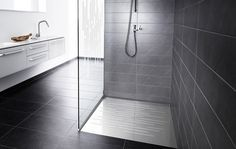 Unidrain GlassLine is an intelligent and functional series of shower screens in glass and shower doors, that creates a beautiful and modern shower. Modern Shower, Modern Bathroom, Shower Doors, Shower Screens, Shower Walls, Bathroom Cabinets, Bathroom Vanities, Glass Shower, Black Glass