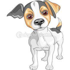 Векторный рисунок собаки породы Джек Рассел терьер