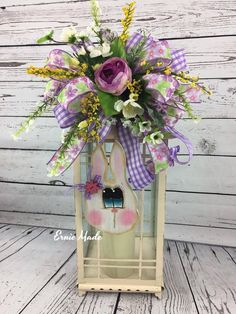 Your place to buy and sell all things handmade Easter Centerpiece, Centerpieces, Lantern Craft, Diy Ostern, Spring Tree, Wooden Flowers, Easter Crafts, Easter Decor, Lanterns Decor