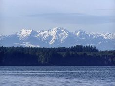 The Olympic Mountains, the view I have the fortune of seeing every morning. Amazing!