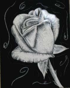 scratch board rose