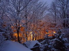Looking out window at snow falling - Google Search