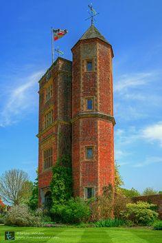 The Elizabethan tower of Sissinghurst Castle in the county of Kent, England by Brian Denton