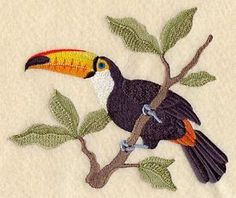 Picture Information          Image is loading TOCO-TOUCAN-NEW-DESIGN-SET-OF-2-BATH-HAND-TOWELS-EMBROIDERED-by-laura            TOCO TOUCAN