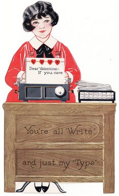'You're my Type' VIntage Valentine