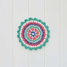 Mandy's Mandala is a free crochet mandala pattern with step by step instructions. My very first crochet design is an easy to make mandala. Crochet Mandala Pattern, Crochet Art, Doily Patterns, Crochet Home, Crochet Doilies, Free Crochet, Beginner Crochet, Crochet Patterns For Beginners, Easy Crochet Patterns