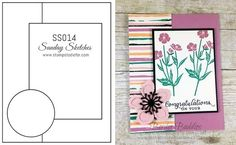 Sunday Sketches SS014 - Wild about Flowers Stamp Set by Stampin' Up!
