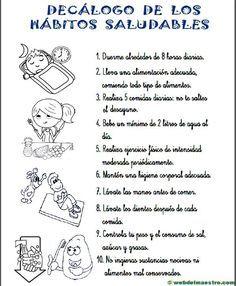 Habitos saludables para ninos de primaria pdf