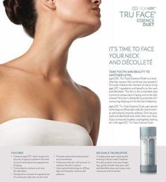 ageLOC Tru Face Essence Duet  Special product design to smooth out your skin for your neck and décollete (chest) area. Full launch started today and start hunting for those who unfortunately suffering turkey neck. Ideal products for them. Contact for deta